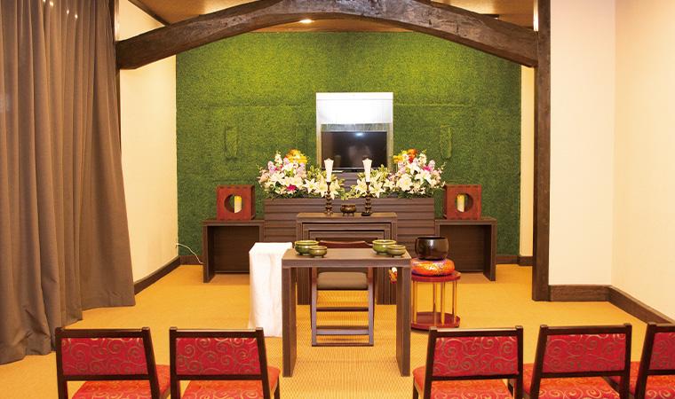 家族葬専⽤の式場
