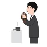 4.香は香炉へ落とします。これで1回。回数は1~3回が目安ですが弔問客が多い場合は1回の場合も。